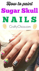 12 sugar skull nail tutorials crafty chica