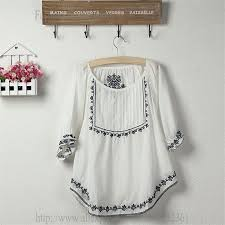 aliexpress com buy vintage mexico floral embroidery white t