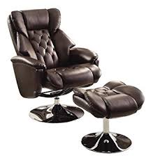 amazon com homelegance 8548brw 1 swivel reclining chair with