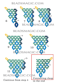 free pattern for beaded necklace blue cross u need seed beads 11