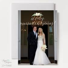 married christmas cards sugar b designs