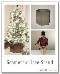 christmas tree holder white geometric christmas tree stand featuring build basic