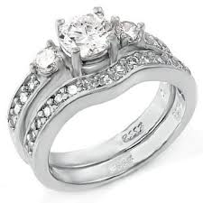 Wedding Ring Sets For Her by Amazon Com Wedding Rings Set His And Hers Titanium U0026 Stainless