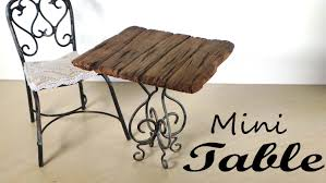 miniature furniture small table tutorial youtube
