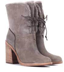 s ugg australia leather boots jerene suede ankle boots ugg australia mytheresa com