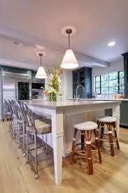 ebony wood dark roast glass panel door kitchen island designs with