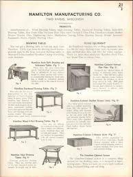 Hamilton Manufacturing Company Drafting Table Hamilton Mfg Company 1938 Drawing Tables Furniture Vintage Catalog