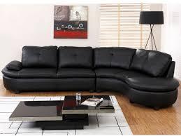 vente canapé cuir canapé d angle en cuir blaise noir angle droit prix promo