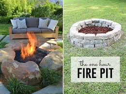 Easy Firepit How To Build A Pit Easy Diy Inexpensive Firepit For Backyard