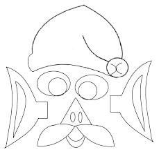 santa claus face template printable mask cut paste activity