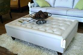round upholstered coffee table upholstered coffee table ottoman storage round gray leather large