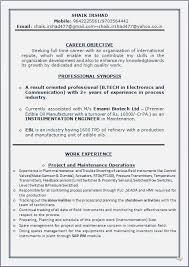 Sample Resume In Word Document by Resume Blog Co Sample Cv In Word Document B Tech In Electronics