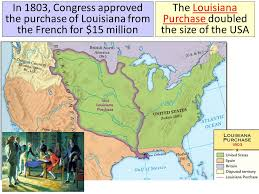 usa map louisiana purchase jefferson and ppt
