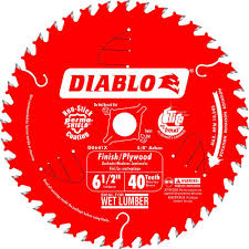 Circular Saw Blade For Laminate Flooring Diablo 6 1 2 In X 40 Tooth Finish Plywood Saw Blade D0641r The