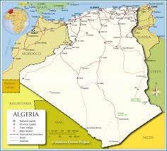 Middle East Map Capitals by Political Map Of Algeria Nations Online Project