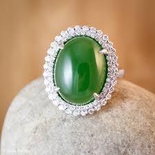 jade engagement ring heirloom aaa grade nephrite jade diamond ring engagement