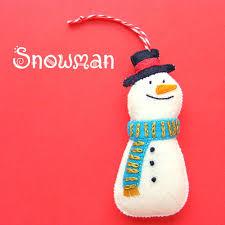 a happy snowman felt ornament pattern shiny happy world