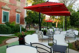 double offset patio umbrellas outdoor umbrellas the shade