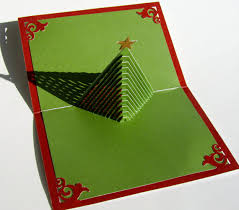 tree 3d pop up greeting card and decoration