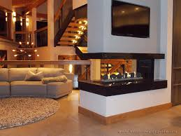 Corner Gas Fireplace With Tv Above by Commonwealth Fireplace
