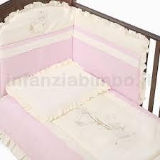paracolpi e piumone billo e pallina completo piumone sfilabile nuvola avorio rosa