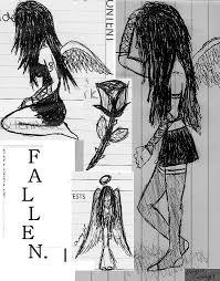 fallen angel sketches by vogue angel on deviantart