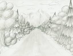 road through the forest sketch by ruler of mars on deviantart
