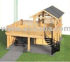 Garage With Carport Carport With Deck Above In Front Of The Garage Perfect For The