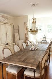 Rustic Dining Room Lighting by Vintage Cottage Chic Dining Room With Country French Dining Chairs