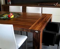 fabriquer table cuisine table cuisine bois noyer idée de modèle de cuisine
