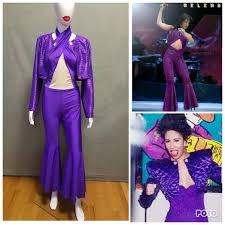 selena quintanilla purple jumpsuit made to order selena quintanilla inspired purple jumpsuit with