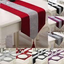 home decor table runner uk thick chenille modern velvet table runner and table mats