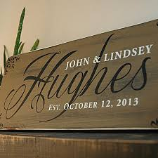 family wood custom wood family established sign in rustic finish rustica