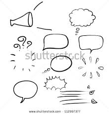think bubble talk bubble collection sketch stock vector 112997377