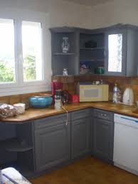 peindre cuisine rustique cuisine rustique repeinte galerie avec peindre une cuisine en gris