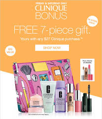 bergners bridal registry bergners clinique bonus free 7 pc gift w any 27 clinique
