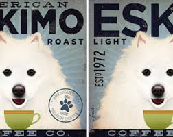 american eskimo dog new zealand american eskimo eskie dog coffee company illustration giclee
