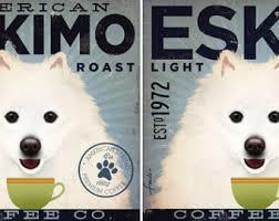 american eskimo dog rescue colorado american eskimo eskie dog coffee company illustration giclee