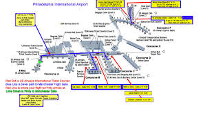 philadelphia international airport map philadelphia airport terminal map my