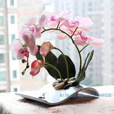 Artificial Flower Decorations For Home Flower Arrangement Ikebana Arranged Artificial Butterfly Moth