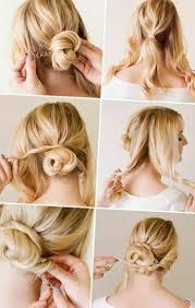 Hochsteckfrisuren Ganz Einfach by Einfache Hochsteckfrisuren Mittellanges Haar Http Stylehaare