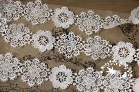 lace ribbon by the yard 3 inches white fringe trim 2 yards fringe tassel trim white fringe