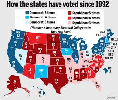 Republican States Map by Map Of The Road To The White House World News Winnipeg Sun
