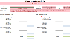 Balance Sheet Reconciliation Template Business Inventory Archives Project Management Excel Template