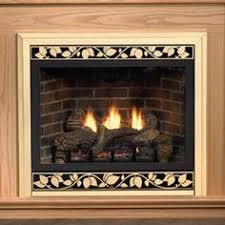 Tahoe Direct Vent Fireplace by Plow Hearth Stacked Stone Free Standing Electric Fireplace Heater