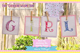 baby shower welcome sign diy a baby shower welcome sign using a clothesline