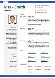 Resume Templates Australia Download Free Downloadable Cv Template Examples Career Advice How To