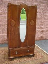 Armoire With Mirrored Front Waterfall Style Chifferobe Armoire Wardrobe Closet Ebay The