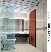 badezimmer 3d stockfoto übertragung badezimmer 3d übertragung