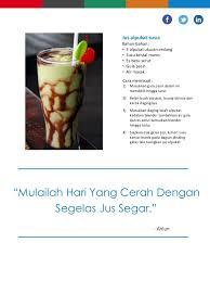 contoh teks prosedur membuat jus mangga resep jus alpukat susu